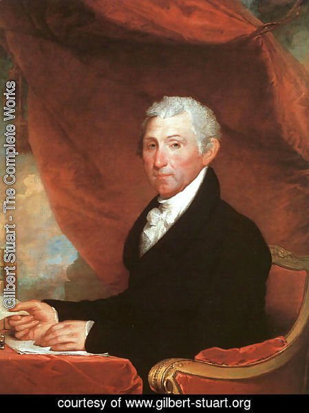 Gilbert Stuart - James Monroe  1818-20