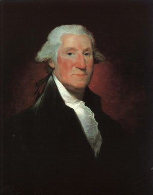 Gilbert Stuart - Portrait of George Washington (Vaughan Washington)  1795