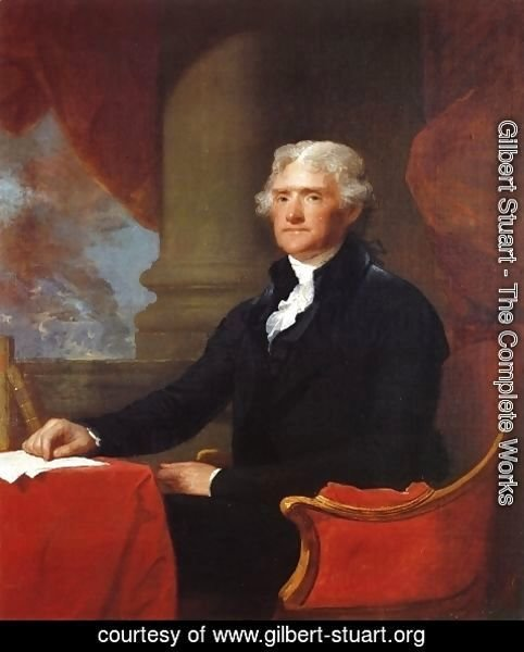 Gilbert Stuart - Thomas Jefferson 1805-07