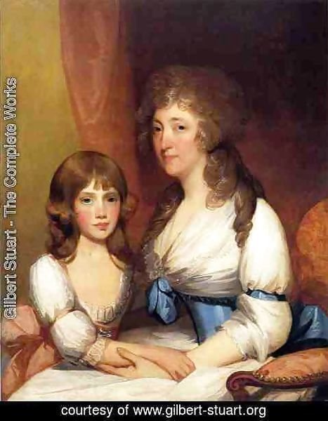 Gilbert Stuart - Mrs. Samuel Dick and Daughter Charlotte Anna
