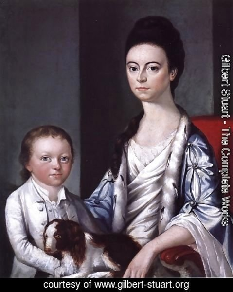 Gilbert Stuart - Christian Stelle Banister and Her Son, John