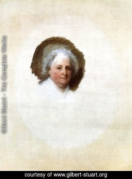 Gilbert Stuart - Martha Washington (The Athenaeum Portrait)