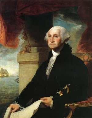 Gilbert Stuart - George Washington(The Constable-Hamilton Portrait)