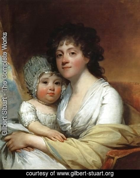 Gilbert Stuart - Elizabeth Corbin Griffin Gatliff and Her Daughter Elizabeth