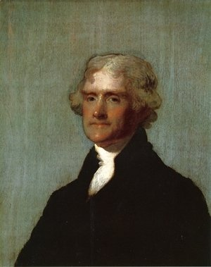 Gilbert Stuart - Thomas Jefferson (The Edgehill Portrait)